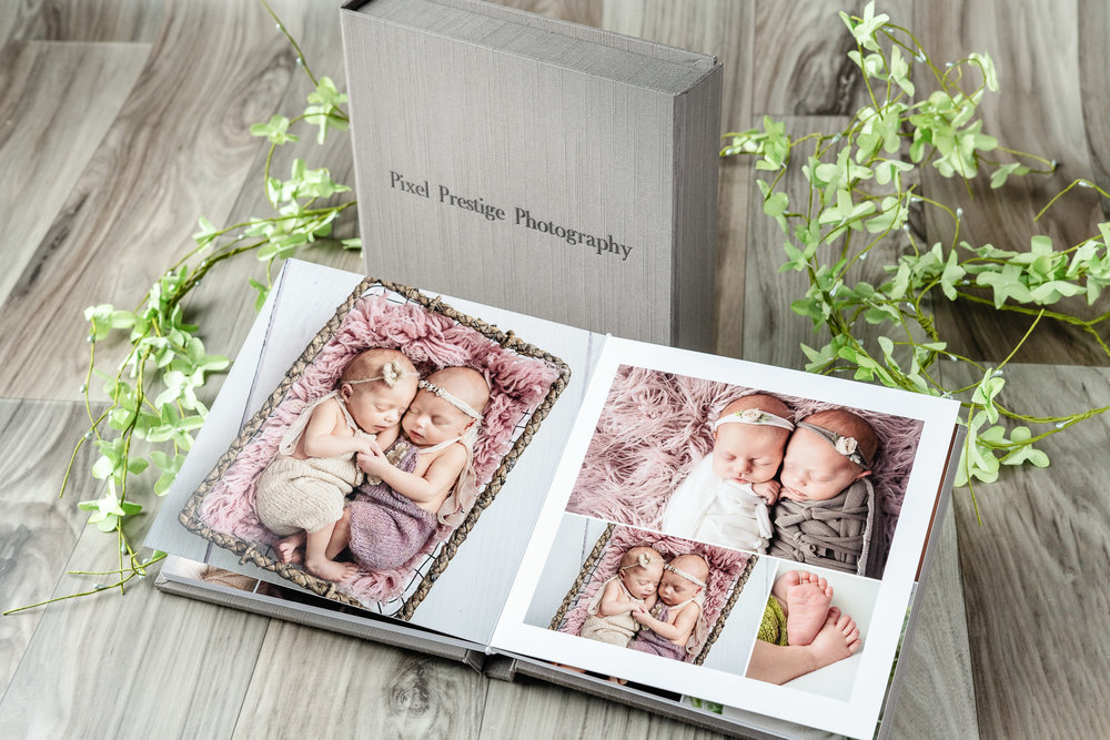 The Bespoke Album - A beautiful 25 portrait album with 2 mini matching albums with matching digital portraits on a USBStarting at $4,000