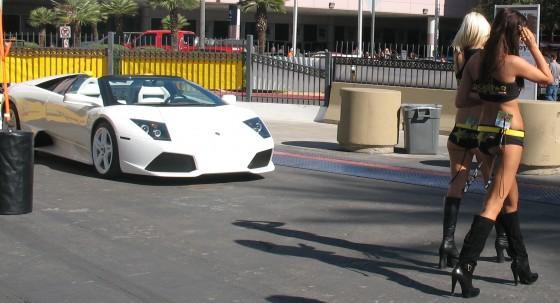 Lamborghini Murcielago and strippers