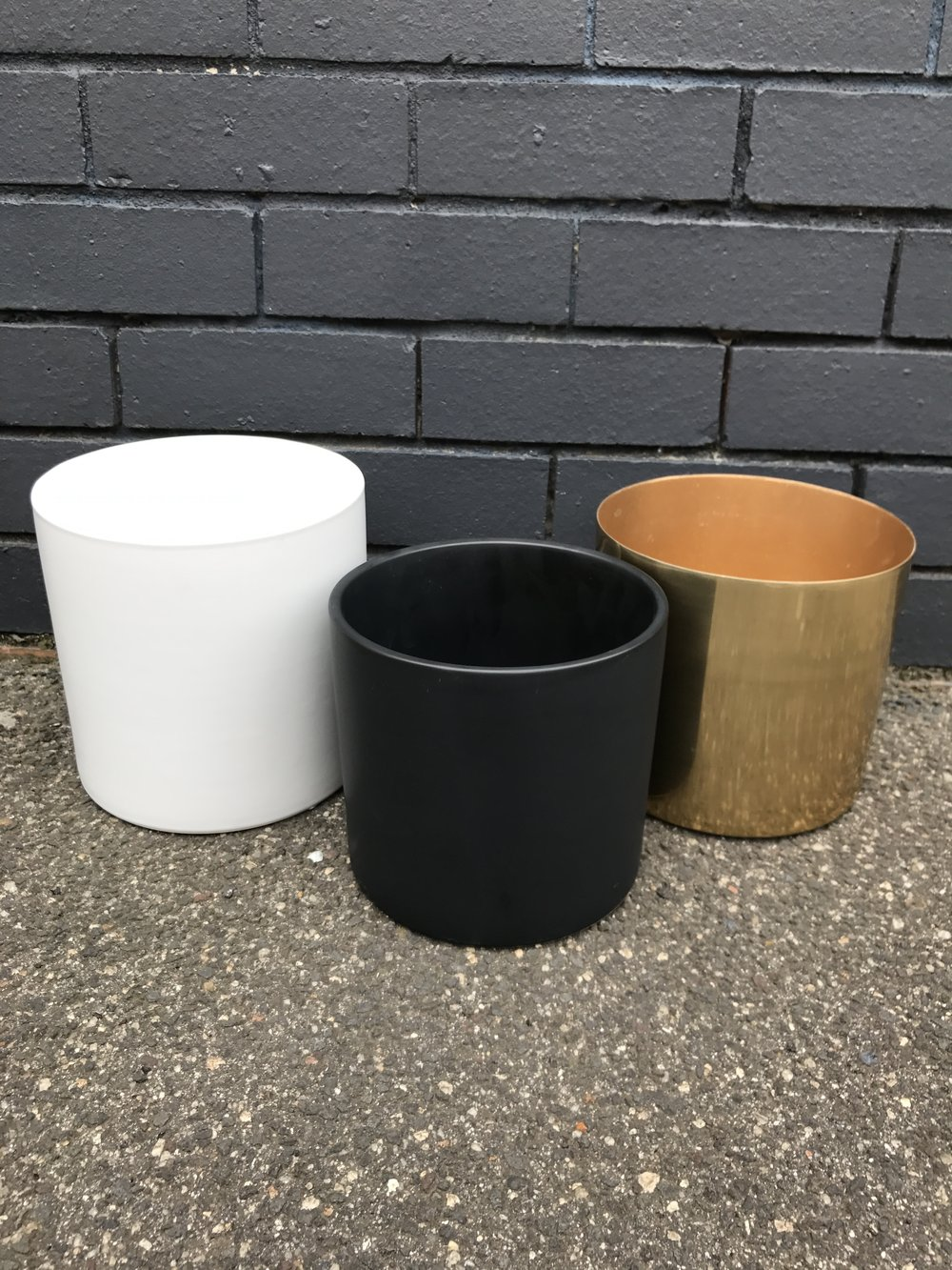 Ceramic and Brass Pots