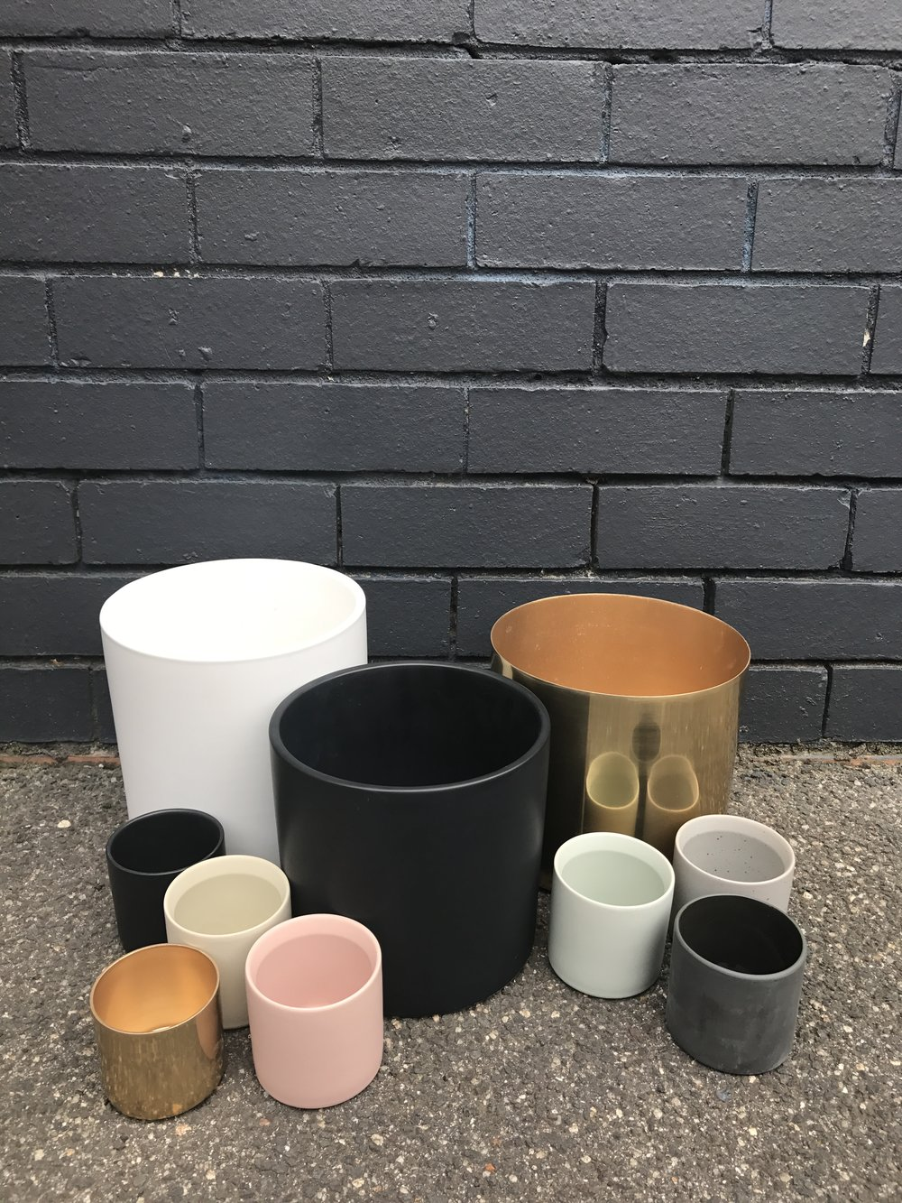 Ceramic and Brass Pots available in various sizes