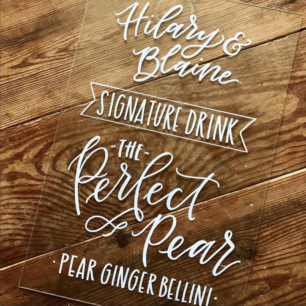 Acrylic Signature Drink Sign