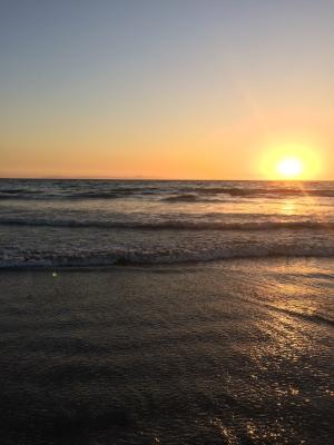 sunset at Newport Beach