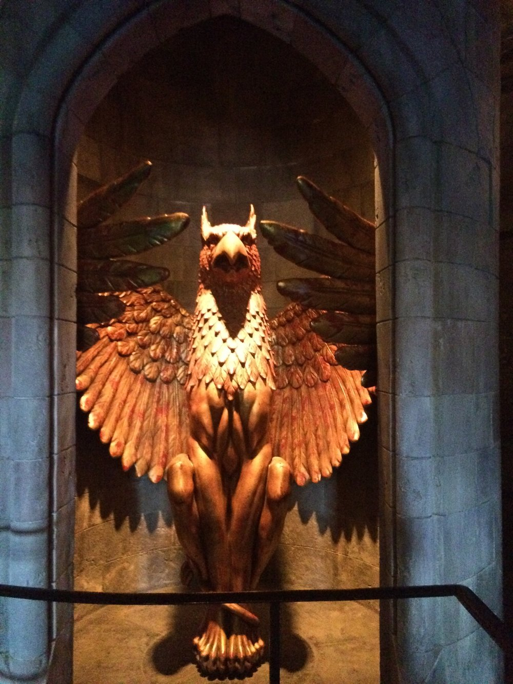 Griffin at Dumbledore's Office Entrance