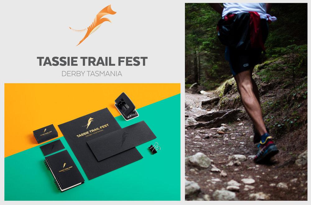 Tassie Trails Fest Logo Design, Derby