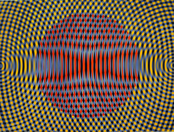 JOHN ASLANIDIS  Sonic no. 32  2013 oil and acrylic on canvas 77 × 102 cm