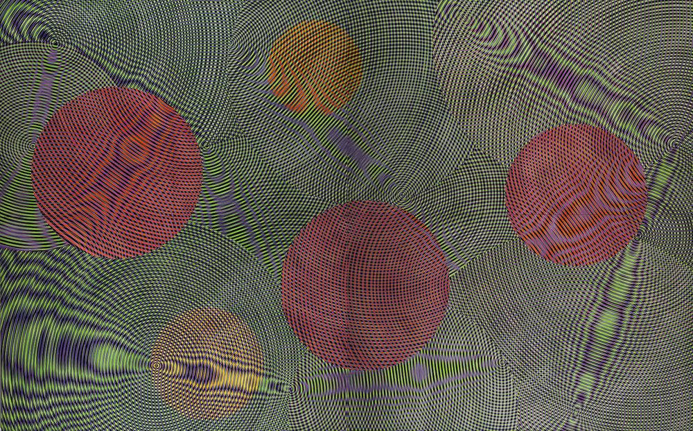 JOHN ASLANIDIS  Sonic Network no. 14  2014 oil and acrylic on canvas 305 × 488 cm