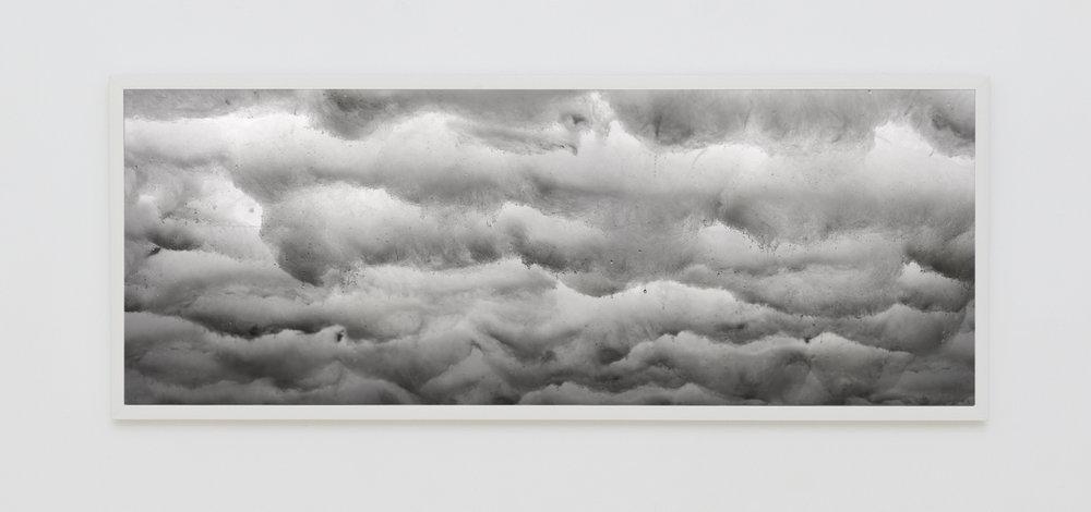DAVID LAWREY & JAKI MIDDLETON  Downfall #1  2016 c-type metallic print 126 × 48 cm