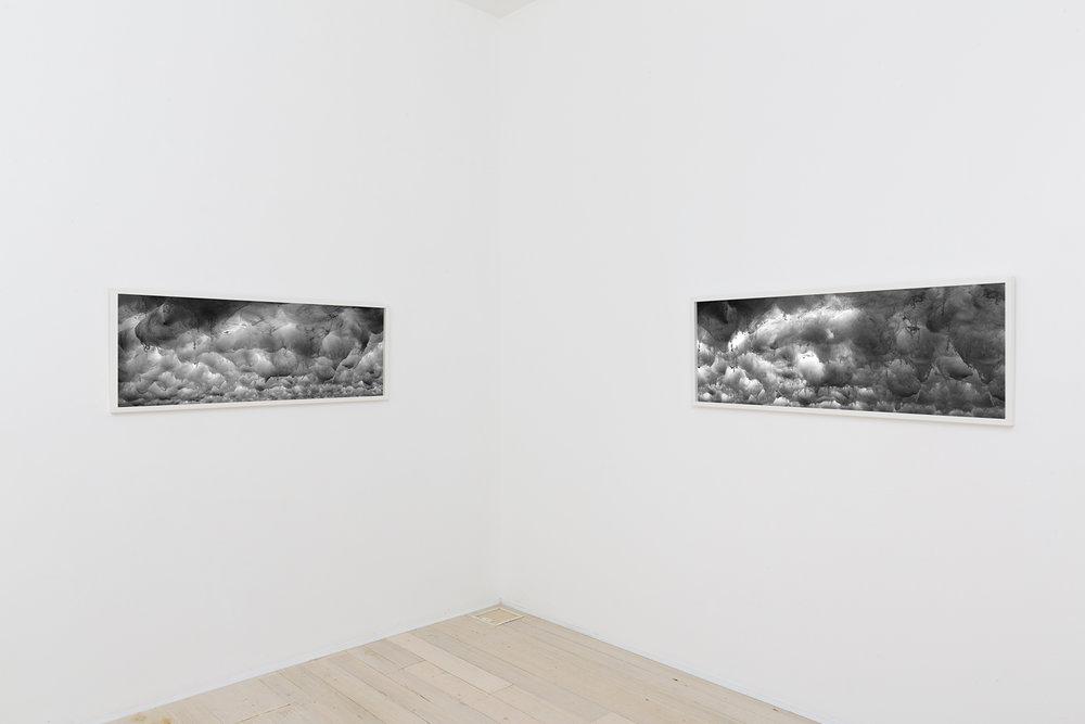 DAVID LAWREY & JAKI MIDDLETON  Downfall #5 & #6  2016 c-type metallic print 126 × 48 cm each