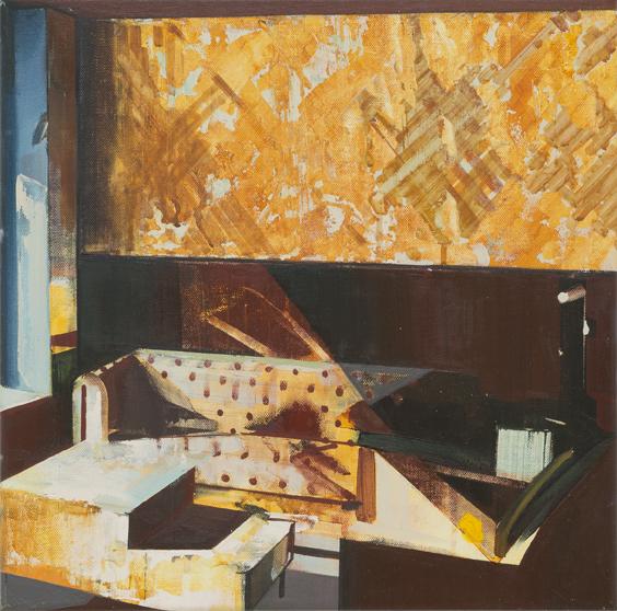 DAVID RALPH  The Den  2017  oil on canvas 40 × 40 cm