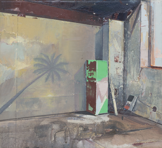 DAVID RALPH  Painted on Paradise  2017 oil on canvas 20 × 30 cm