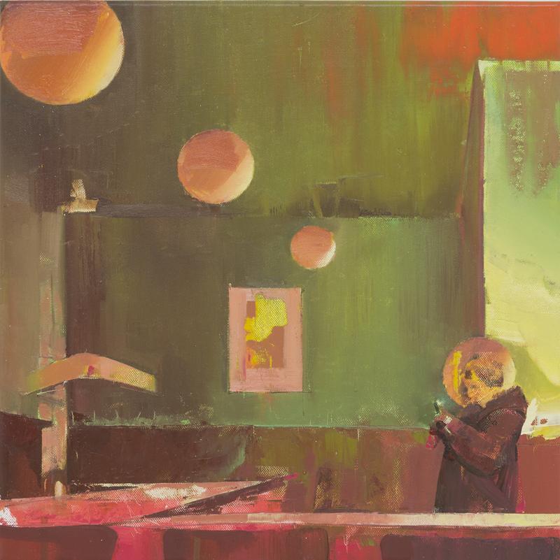 DAVID RALPH  Bubble Vision  2017  oil on canvas 40 × 40 cm