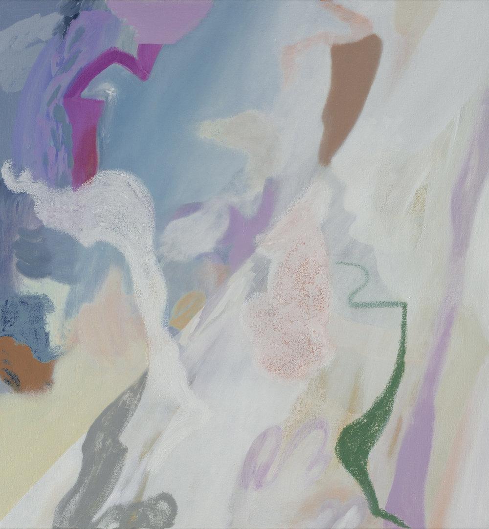 TONEE MESSIAH  Evading Hardship  2017 oil on canvas 76 × 71 cm