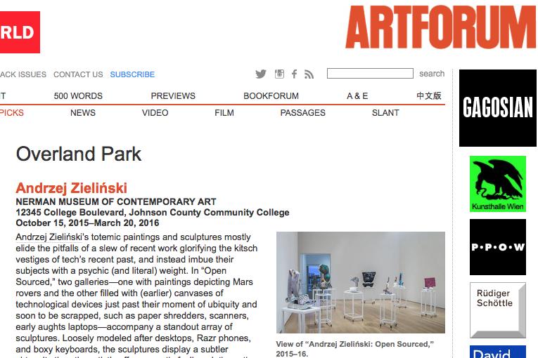 Read  ANDRZEJ ZIELINSKI in  Art Forum , Oct 2015