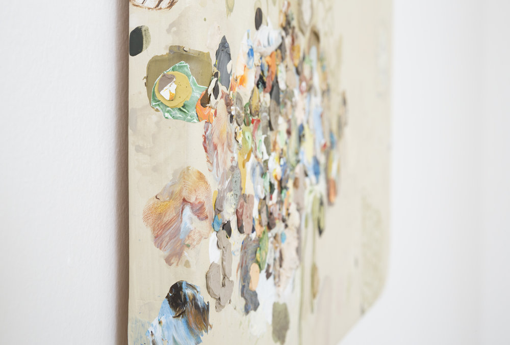 MARK RODDA Amber Bulwark (detail) 2017 acrylic and oil on wood panel 50 × 45 cm