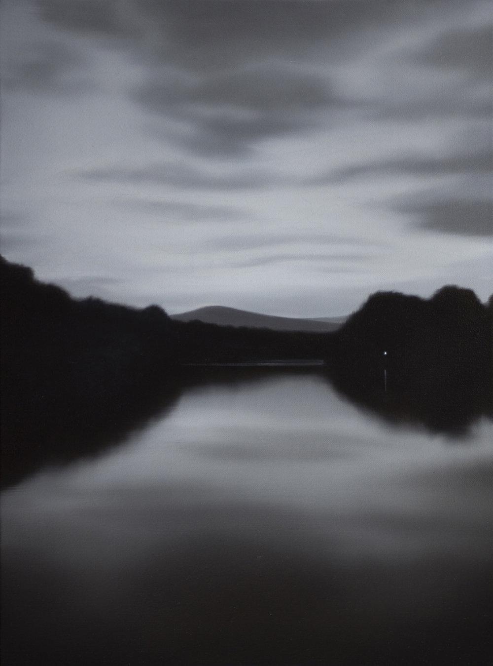 TONY LLOYD Lake 2017 oil on linen 40 × 30 cm
