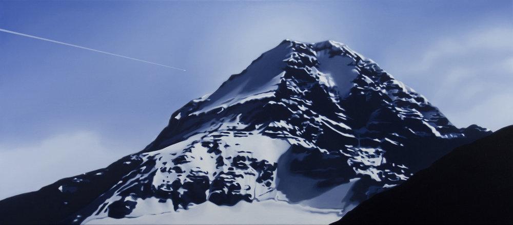 TONY LLOYD Assiniboine 2017 oil on linen 61 × 137 cm