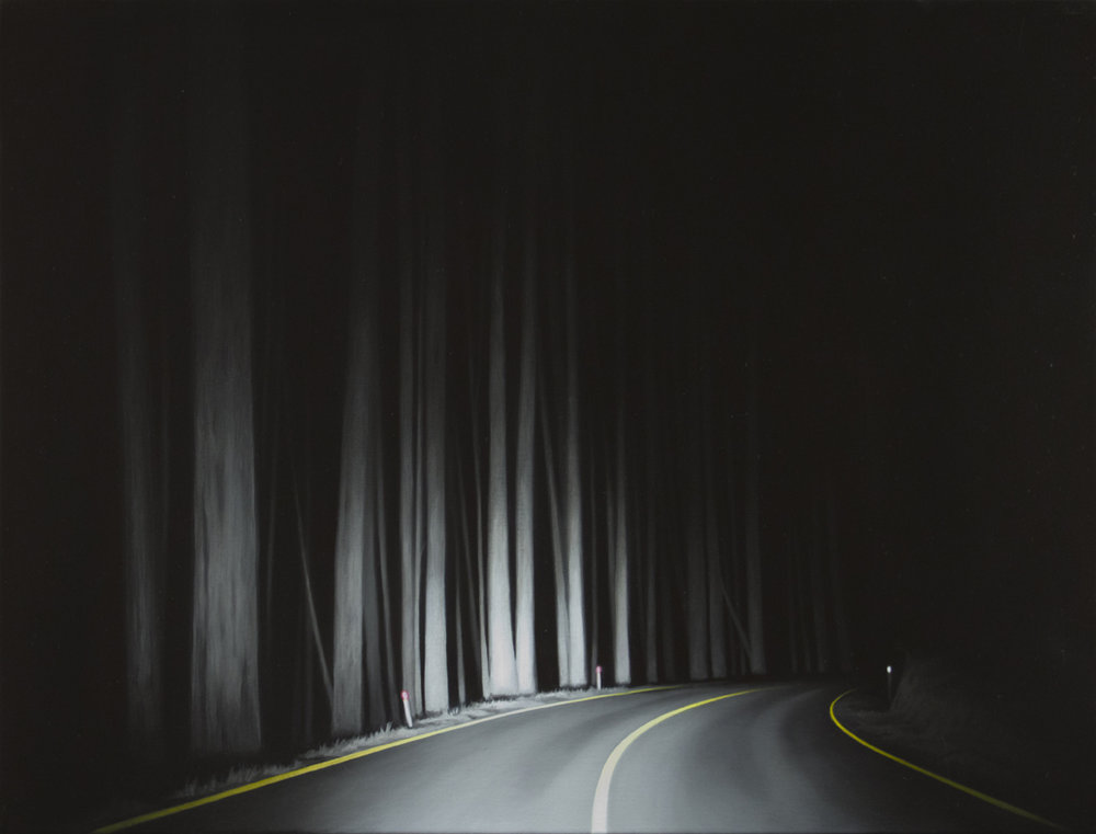 TONY LLOYD High Plains Road 2017 oil on linen 40 × 30 cm
