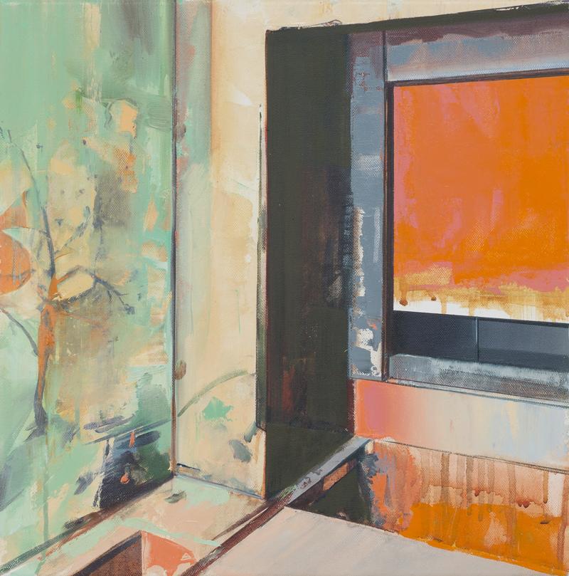 DAVID RALPH  Trace (Halle 14 Spinnerei, Leipzig)  2017 oil on canvas 40 × 40 cm