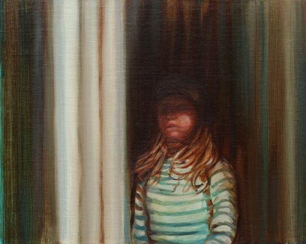 KRISTINA TSOULIS-REAY  Half Light  2017 oil on linen board with Vic Ash frame 22 × 27 cm