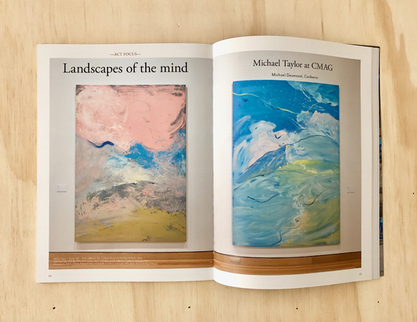 READ MICHAEL TAYLOR REVIEWED BY MICHAEL DESMOND IN ART MONTHLY AUSTRALASIA, OCT 2016