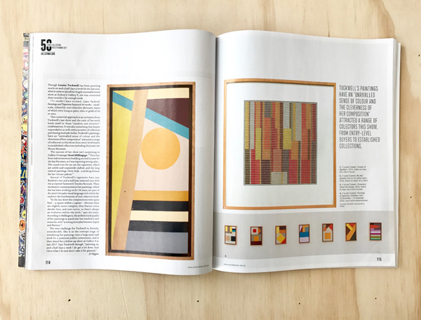 Read  LOUISE TUCKWELL'S  feature in the issue 79 of  Art Collector  magazine, Jan–March 2017