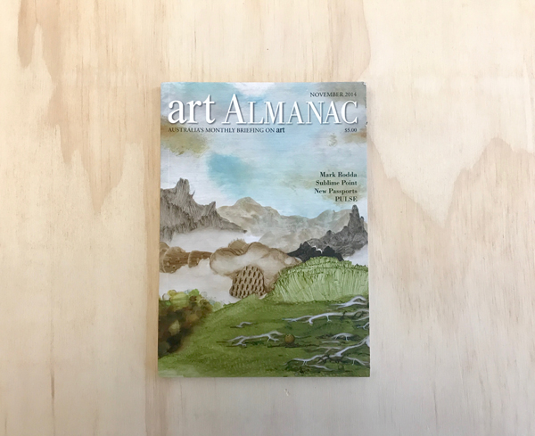 MARK RODDA  on the cover of  Art Almanac , Nov 2014