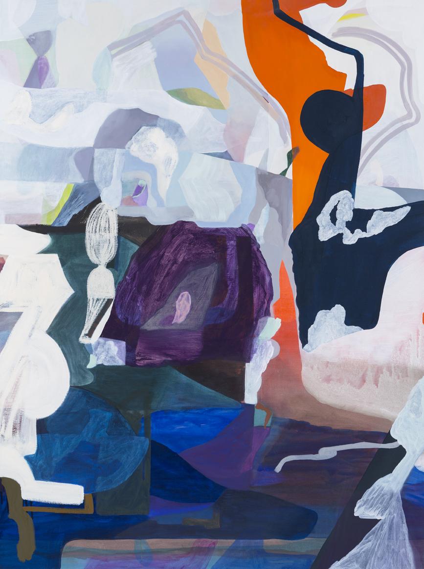 TONEE MESSIAH  Fizzying Apathy II 2016 Oil on canvas 122 × 91 cm