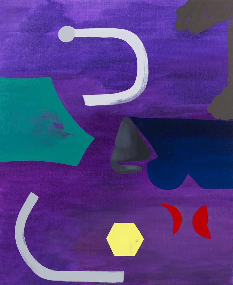 TONEE MESSIAH  Purge 2016 Oil on canvas 101 × 84 cm