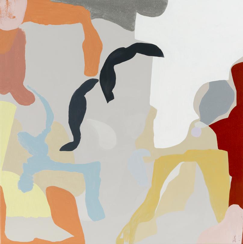 TONEE MESSIAH  Sharp Fringe 2016 oil on canvas 56 ×56 cm