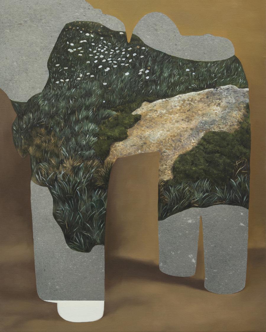 ALICE WORMALD  Nonsense Artefact  2017 oil on linen 51 ×41 cm