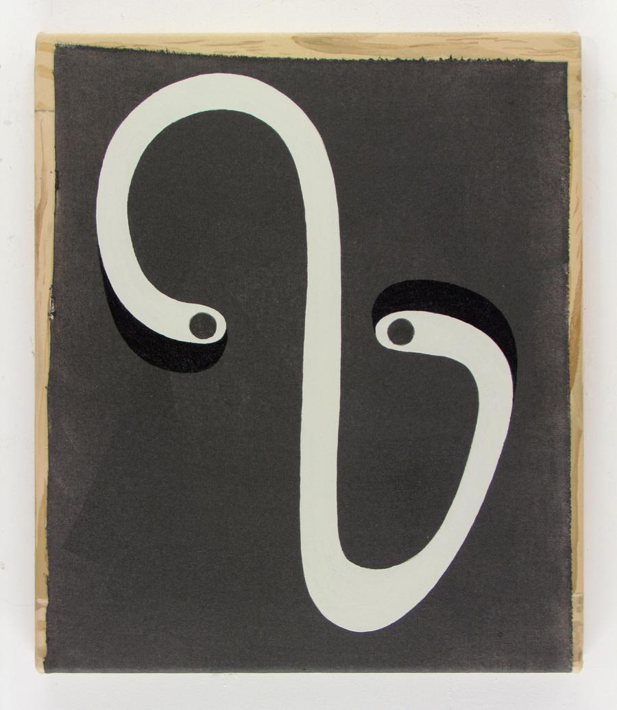 JULIAN HOOPER  Decider  acrylic on canvas 30 ×35 cm