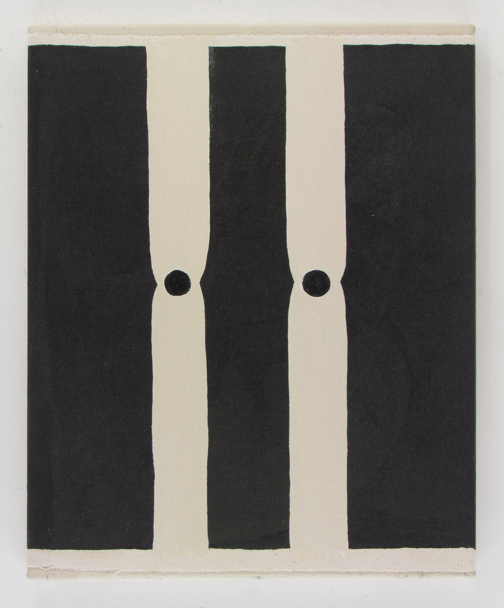 JULIAN HOOPER  Limit  2017 acrylic on canvas 38 ×32 cm