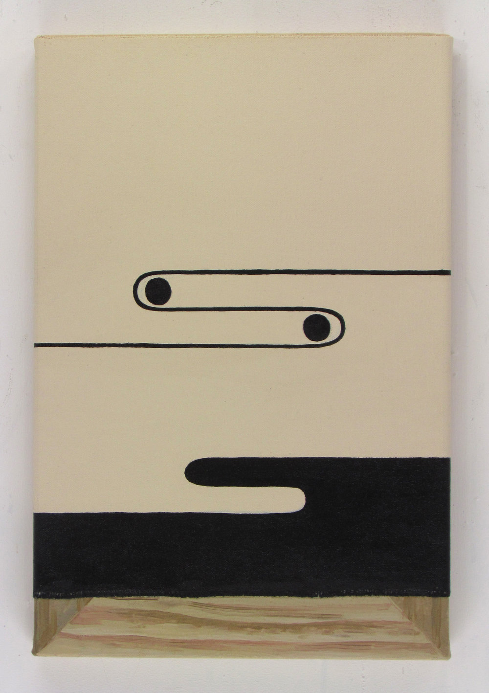 JULIAN HOOPER  Clipper  acrylic on canvas 38 ×26 cm