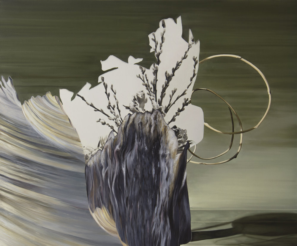 ALICE WORMALD  Water spirals  2016 oil on linen 73 × 88 cm (framed)