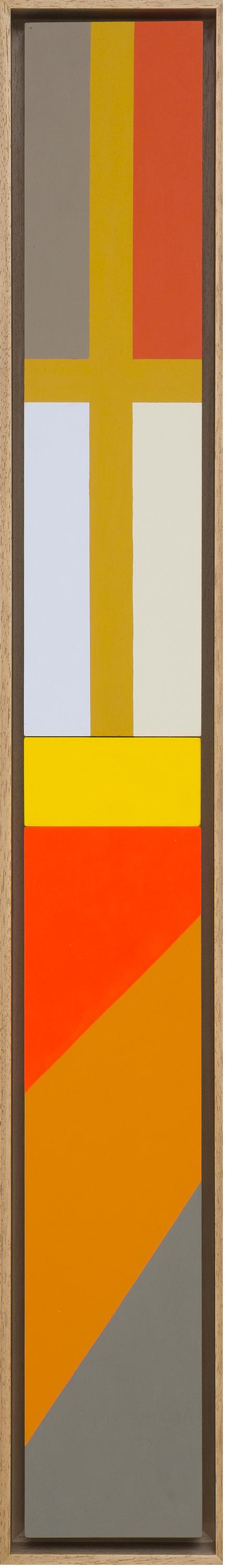 LOUISE TUCKWELL  True Cross II  2017 acrylic on board 80 × 10 cm
