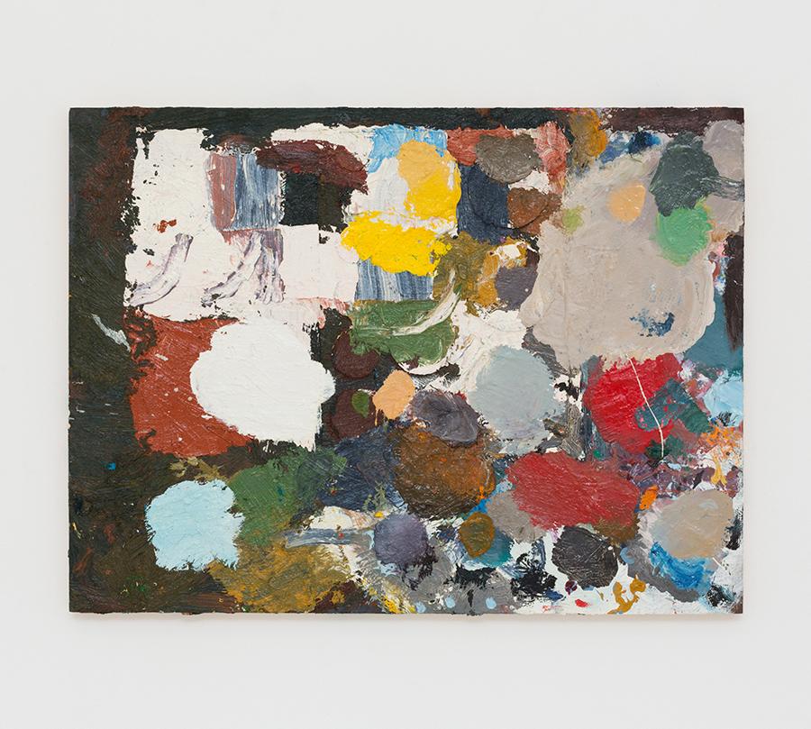 JAKE WALKER  Beaconsfield palette painting 1  2013 oil on board 46 × 61 cm