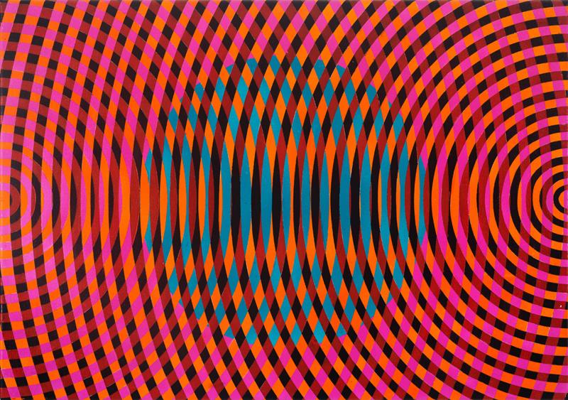 JOHN ASLANIDIS  Sonic Fragment No. 53  2017 oil and acrylic on canvas 46 ×66 cm