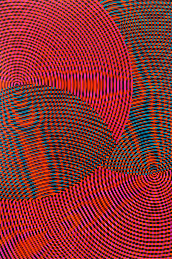 JOHN ASLANIDIS  Sonic No. 61  2017 oil and acrylic on canvas 182 × 133 cm