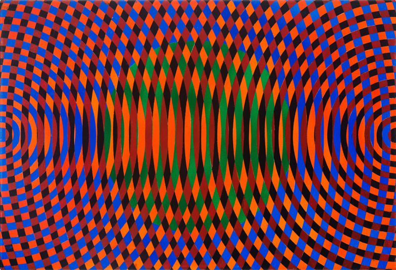 JOHN ASLANIDIS  Sonic Fragment No. 55  2017 oil and acrylic on canvas 41 ×61 cm