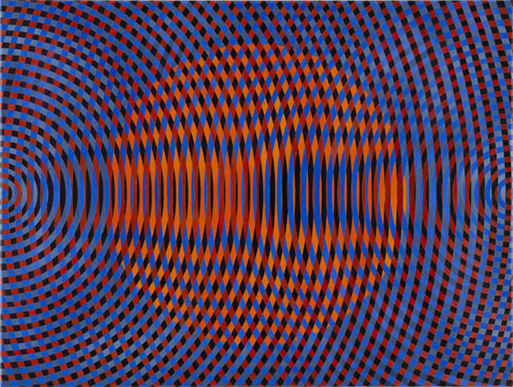 JOHN ASLANIDIS  Sonic no. 45  2015    oil and acrylic on canvas 77 × 102 cm