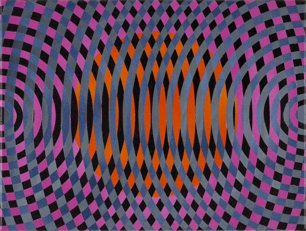 JOHN ASLANIDIS  Sonic sub fragment no. 38  2015 oil and acrylic on canvas 30 ×40 cm