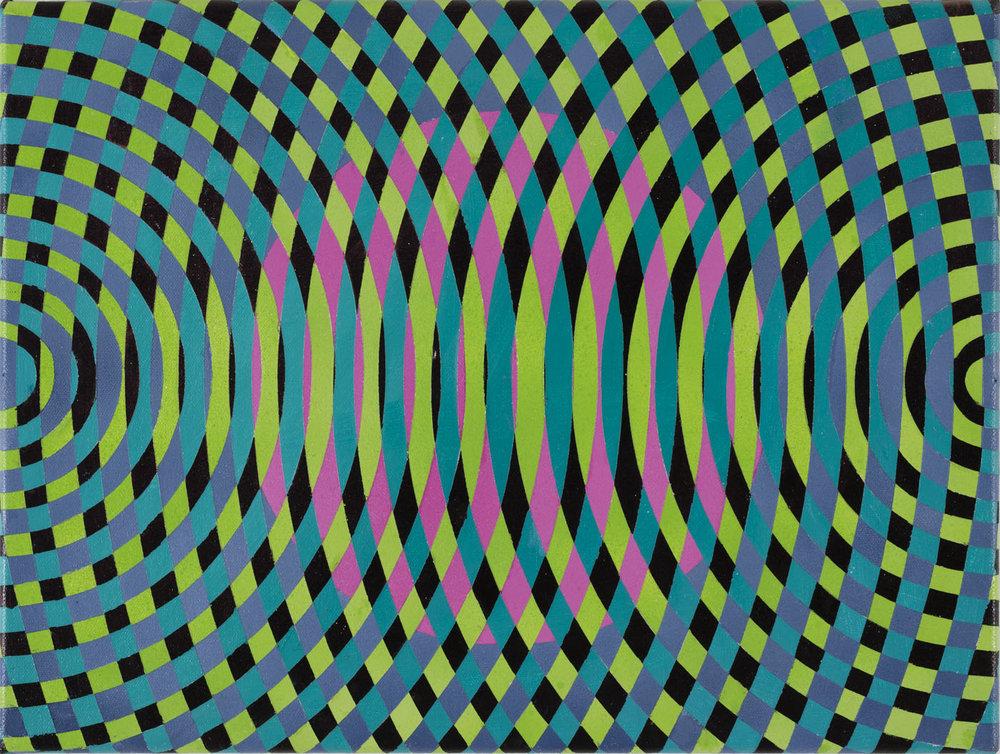 JOHN ASLANIDIS  Sonic sub fragment no. 41  2015 oil and acrylic on canvas 30 × 40 cm