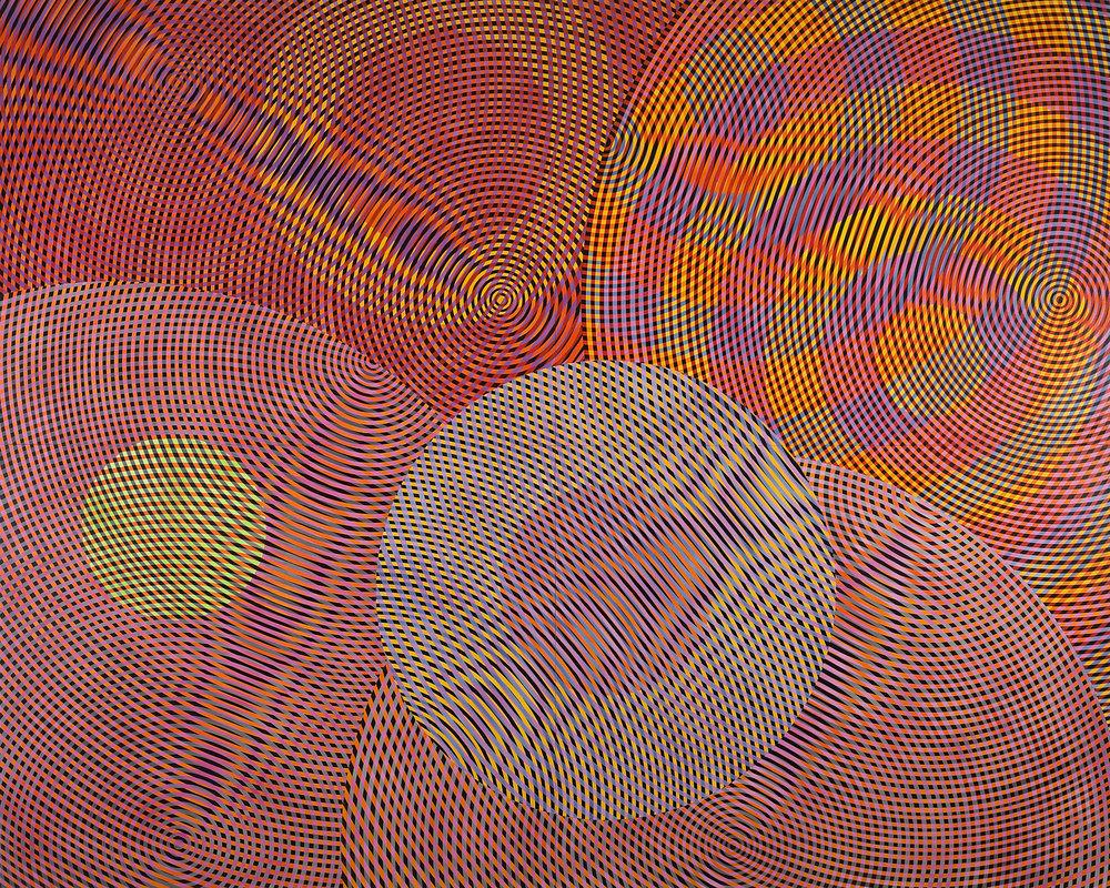 JOHN ASLANIDIS  Sonic Network no. 13  2013 oil and acrylic on canvas 244 × 305 cm