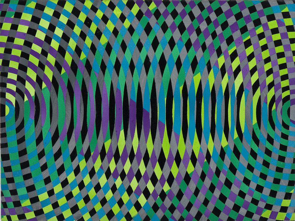 JOHN ASLANIDIS  Sonic sub fragment no. 17  2012 oil and acrylic on linen 30 × 40 cm