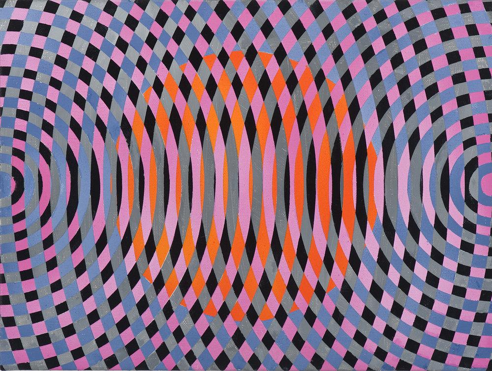 JOHN ASLANIDIS  Sonic sub fragment no. 27 2012 oil and acrylic on linen 30 × 40 cm