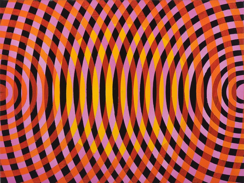 JOHN ASLANIDIS  Sonic sub fragment no. 30 2012 oil and acrylic on linen 30 × 40 cm
