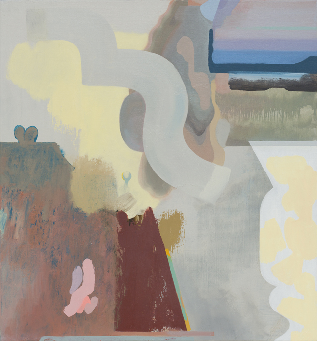 TONEE MESSIAH  Opposites Collide  2015 oil on linen 71 ×66 cm
