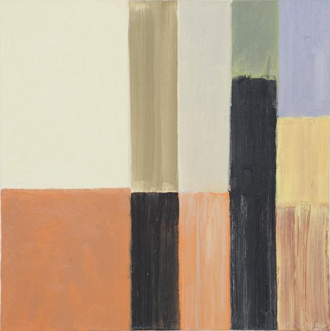 JELLE VAN DEN BERG  Foundations  2015 oil on canvas 25 × 25 cm