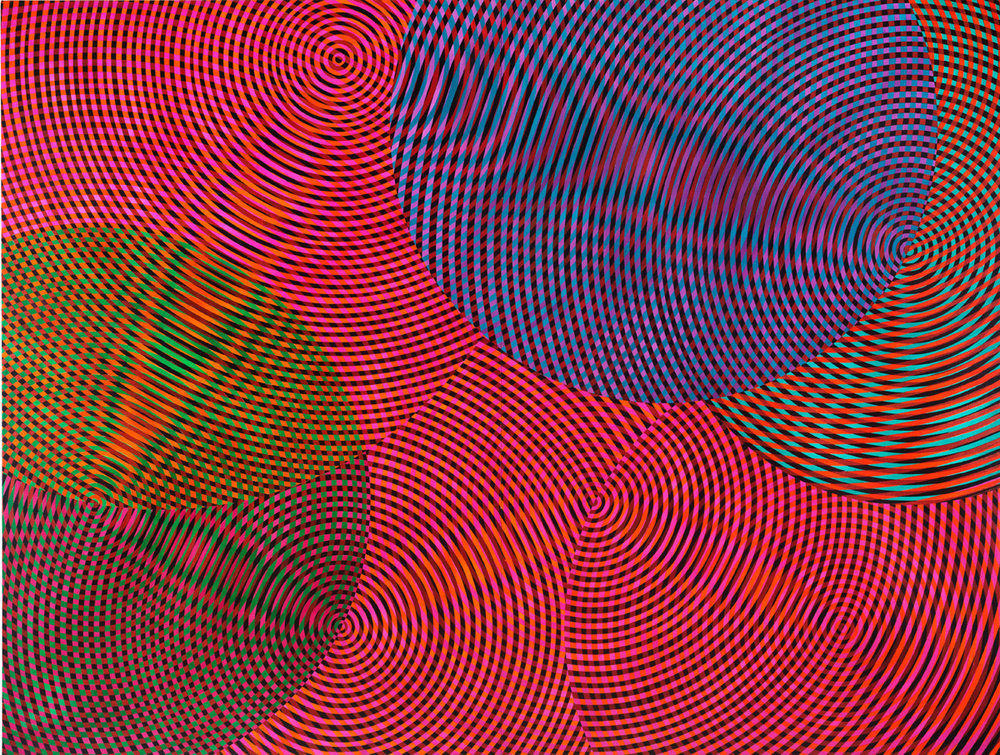 JOHN ASLANIDIS  Sonic No. 17  2017 oil and acrylic on canvas 182 × 246 cm