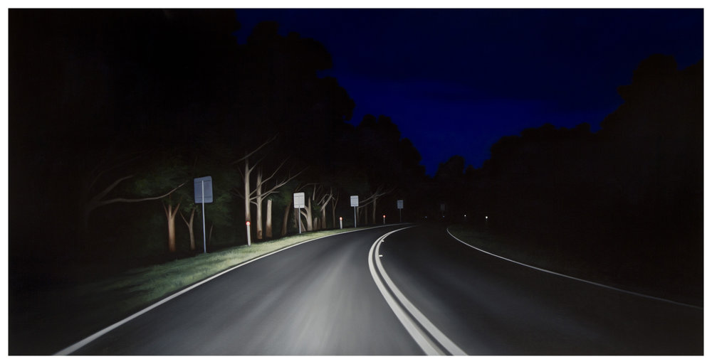 TONY LLOYD  The Other Way  2014 oil on linen 120 × 240 cm